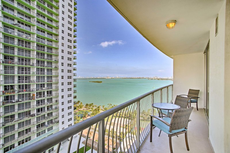 Fall in love with Miami from this 1-bedroom, 1-bathroom  vacation rental condo!