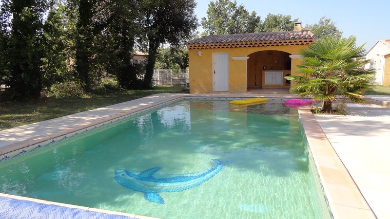 Spacious villa with swimming-pool, vacation rental in Regusse