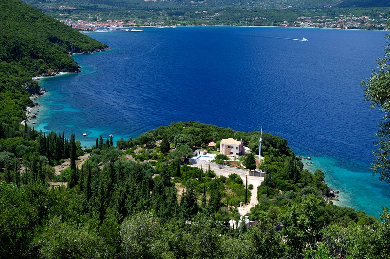 Secluded villa with stunning views in Sami, Kefalonia with private pool