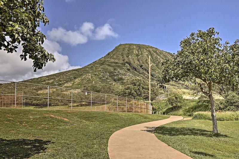 Genießen Sie die atemberaubende Aussicht auf Koko Krater.