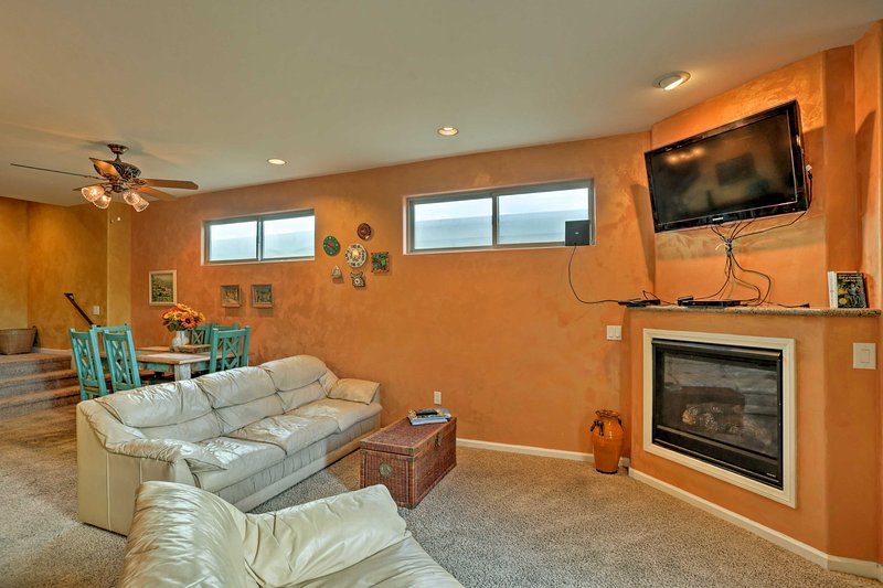After a day of surfing at the ocean or biking through town, you'll love relaxing inside this vibrant townhome.
