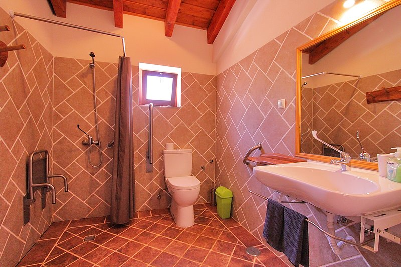 Shared wheelchair accessible bathroom