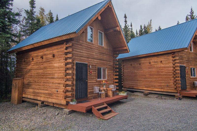 Explore Alaska from this charming 1-bedroom+loft, 1-bath vacation rental cabin.