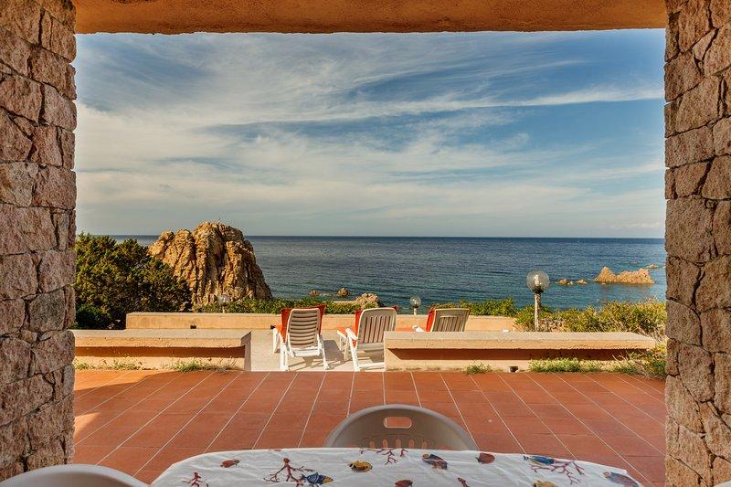 Villa Topazio with amazing sea view and 100 mt. far from the sea, vacation rental in Costa Paradiso