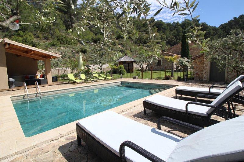 Provencal landhouse, Le Barroux, Mont-Ventoux, Vaucluse, private pool, holiday rental in Le Barroux