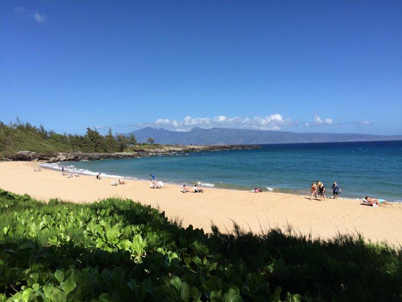 Kapalua avec de belles plages de sable fin et des vues de Molokai
