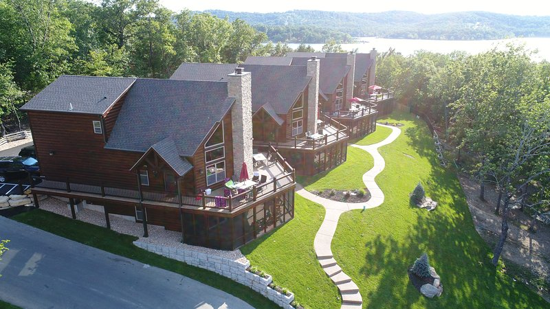 Aerial view of our 8 Bedroom Lodges