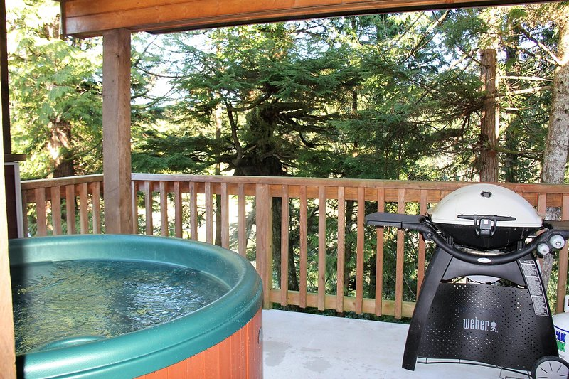 Waterfront 2 bedroom Cottage with Hot Tub!, vacation rental in Barkley Sound
