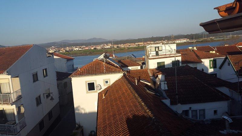 View of the main facade balcony-