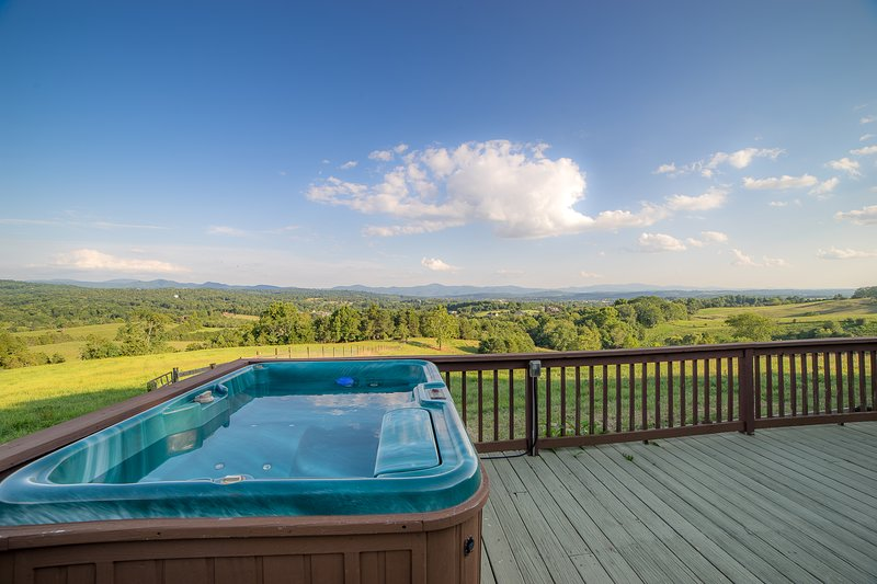 A hot tub with a view!