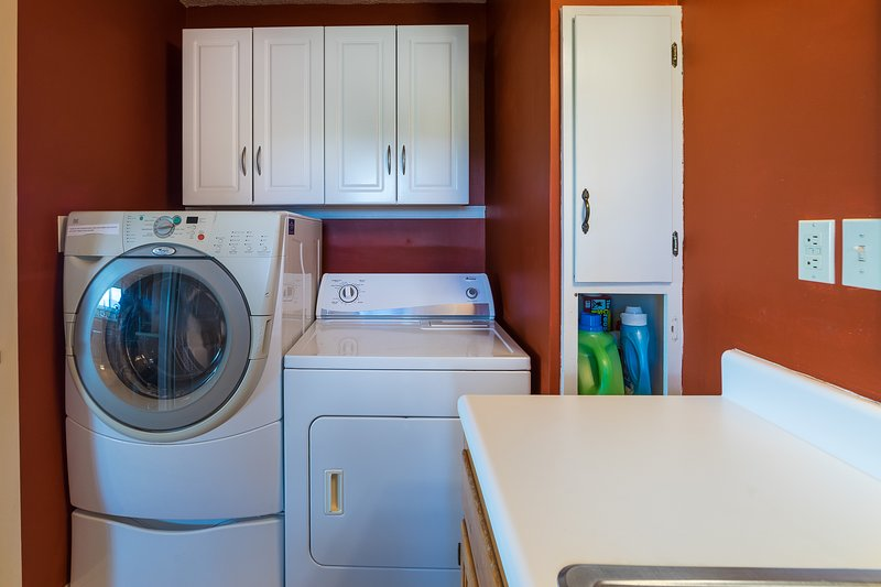 Laundry, detergents supplied