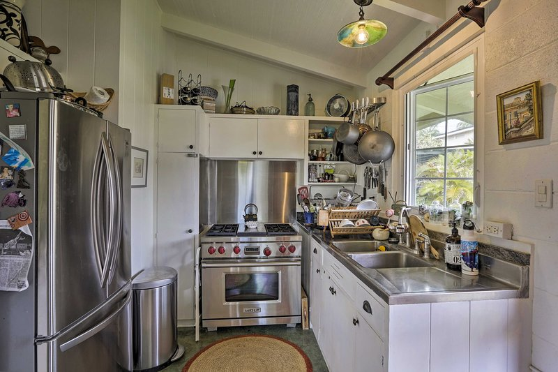 Essayez vos recettes préférées dans la cuisine bien équipée.