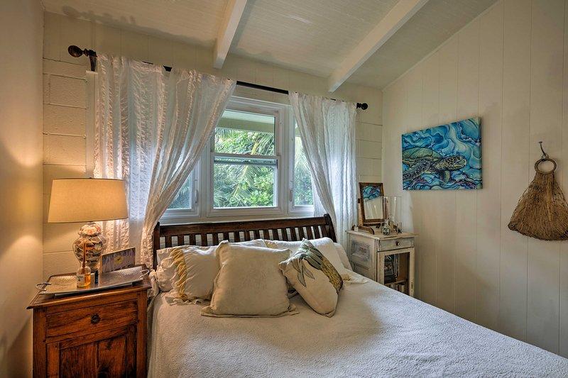 Chaque chambre offre un ventilateur de plafond et d'un matelas de lit confortable.