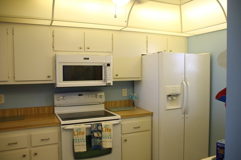 NEW stainless steel appliances have been added.  This is an old photo.