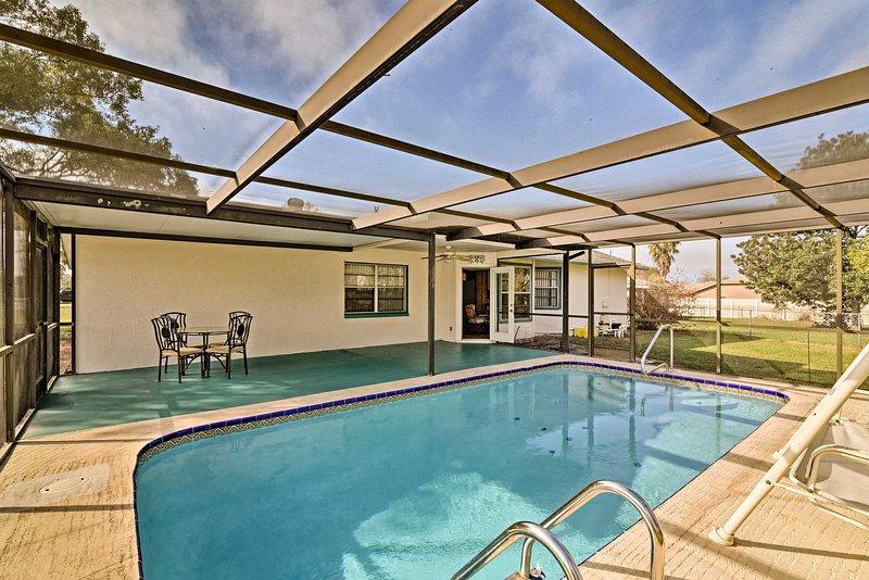 A quiet, peaceful Florida getaway awaits 5 guests at this vacation rental house.