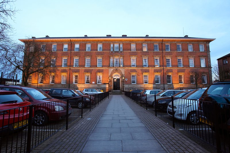 A magnificent , historic building and secure parking.
