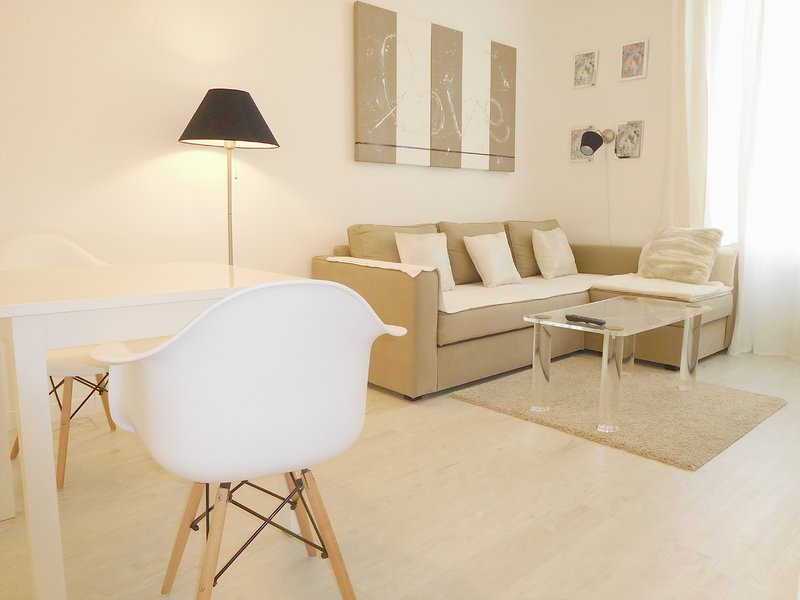 Cannes apartment living room