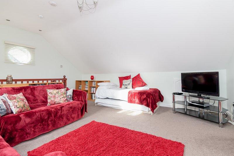 Main living / extra sleeping area (2 singles, 2 sofa beds)