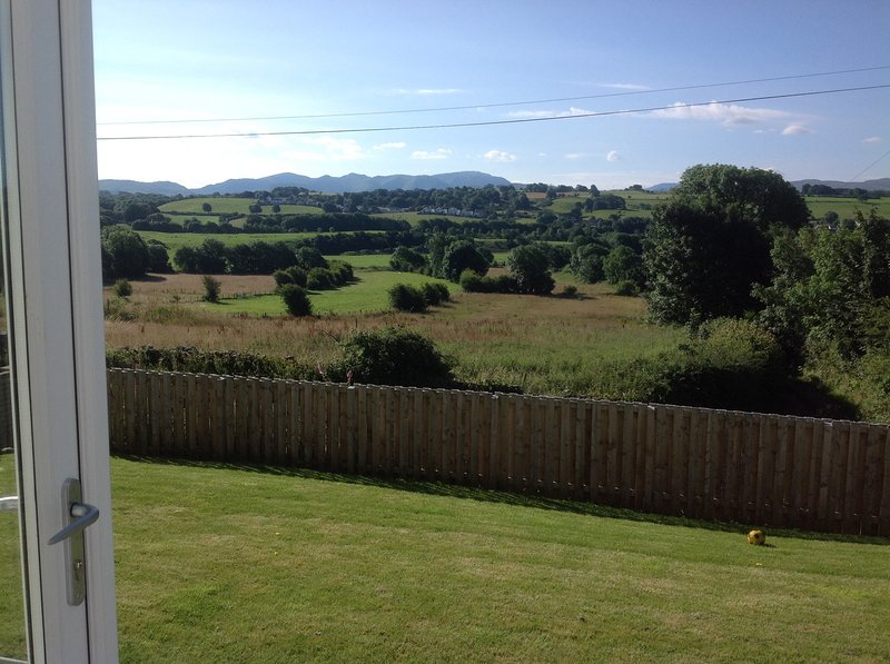 South facing view of the fells from the lounge and decking