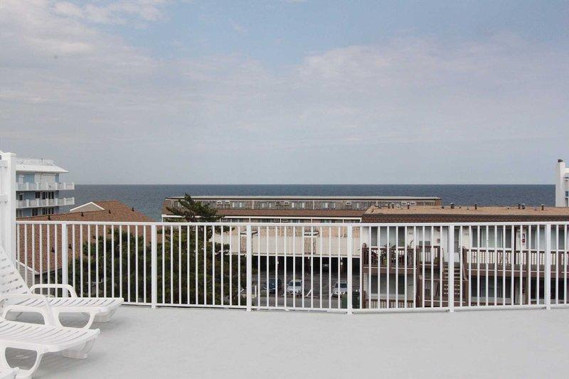 bela vista do mar a partir do Pool Deck