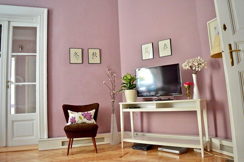Living room. TV, satellite, free WIFI.