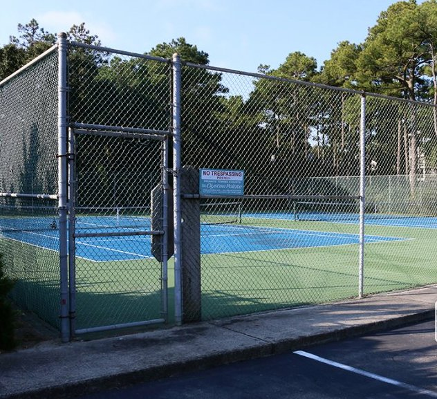 tennis courts 50 feet from our door