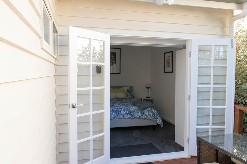 Main bedroom entrance of the timber decking