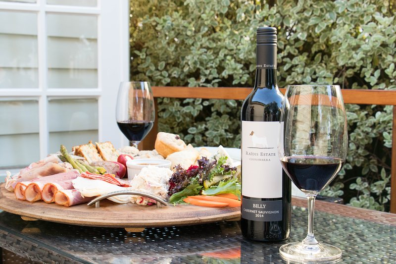 Why not kick back and relax on the decking with a platter and a classic Coonawarra Cabernet.
