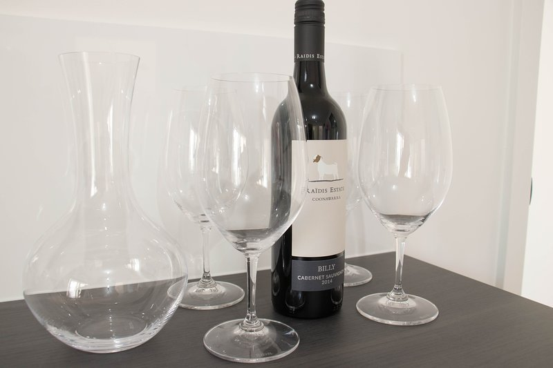 We supply Riedel glassware and decanter