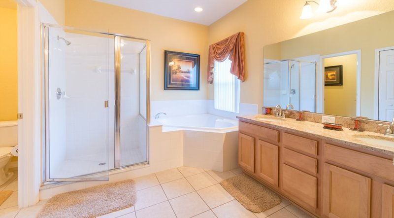 Master Bedroom's Bathroom ( GIANT )  Shower and Jacuzzi Tub
