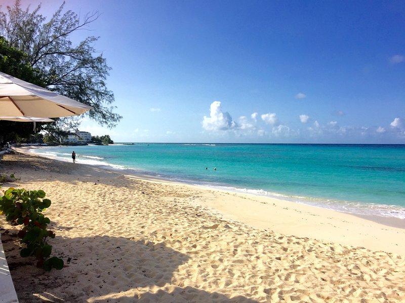 The beach at Coral Bay