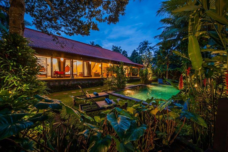 '75% OFF' Jungle View 3 BR Aashaya Villa Ubud, Private pool, vacation rental in Ubud
