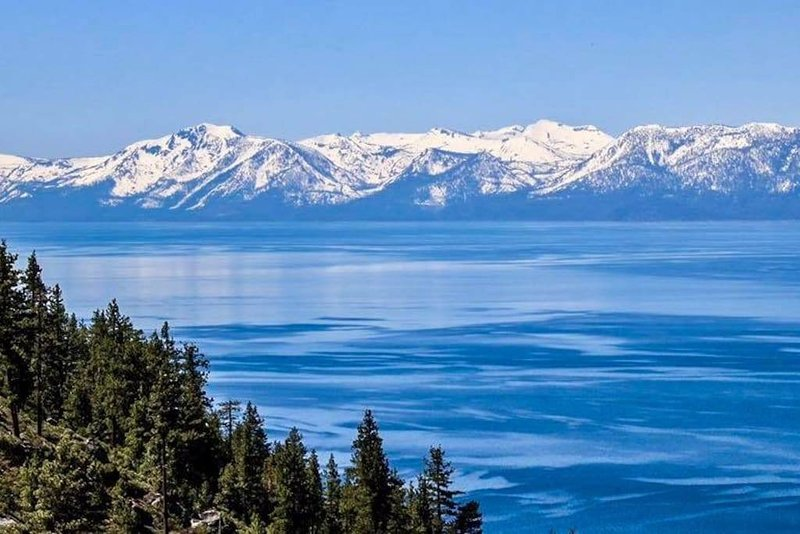 View of Tahoe heading to Incline