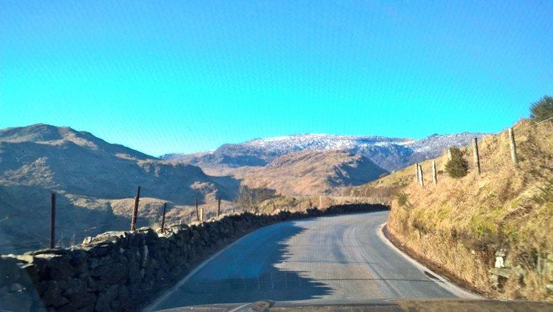 Beddgelert to Llanberis road