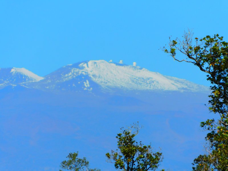 View the observatory on Mauna Kea from your porch
