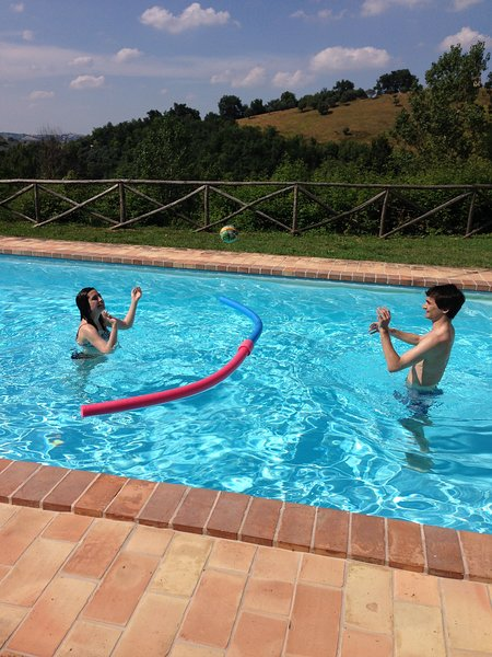 Mais diversão na piscina