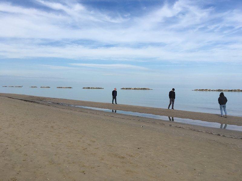 Praia de Porto San Giorgio fora de época