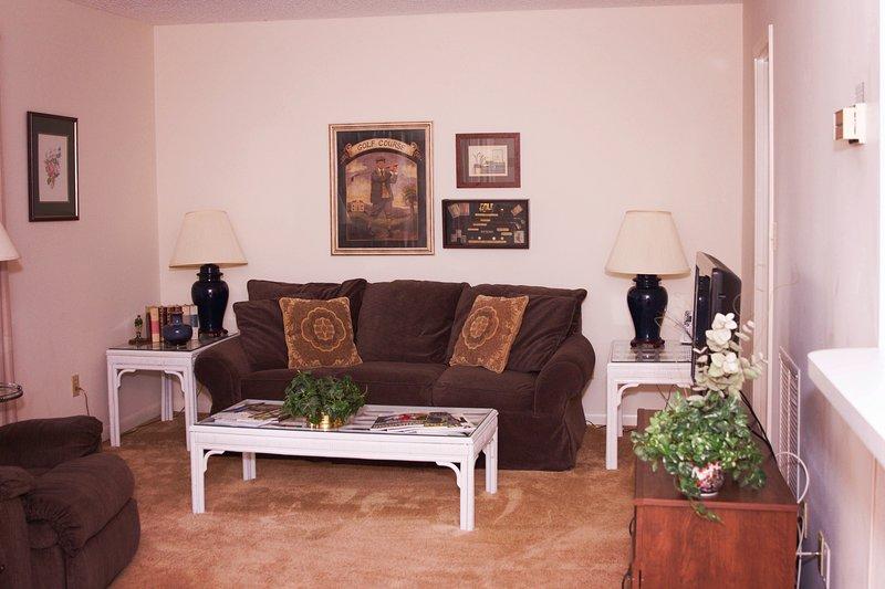sala de estar, sofá saca a una cama de matrimonio