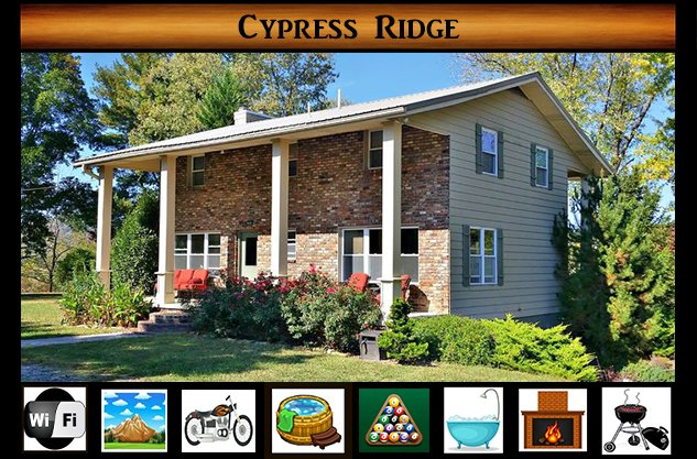 Cypress Ridge, vacation rental in Townsend