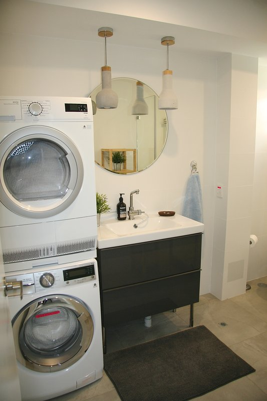 Laundry facilities off the kitchen
