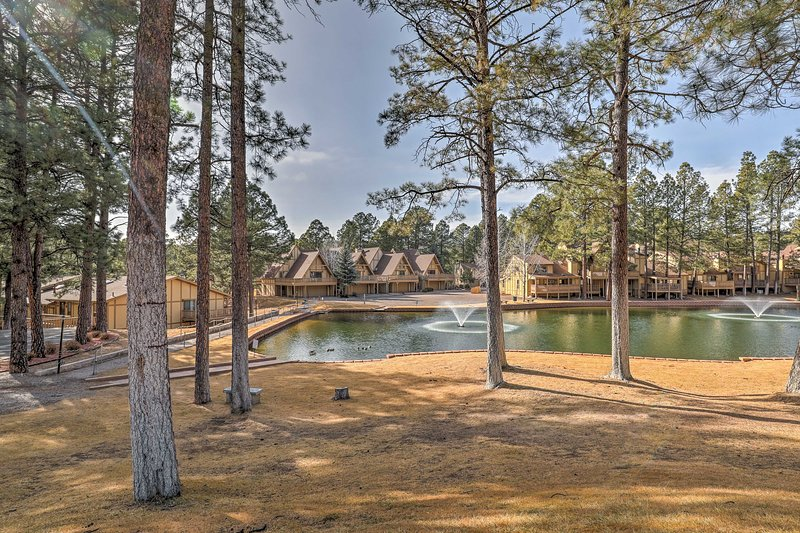 Find your home-away-from-home at this Ruidoso resort townhome!