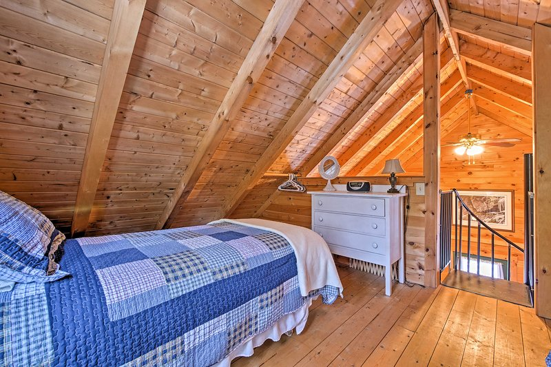 Additional sleeping can be available up in the loft.