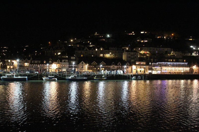 West Looe at night.