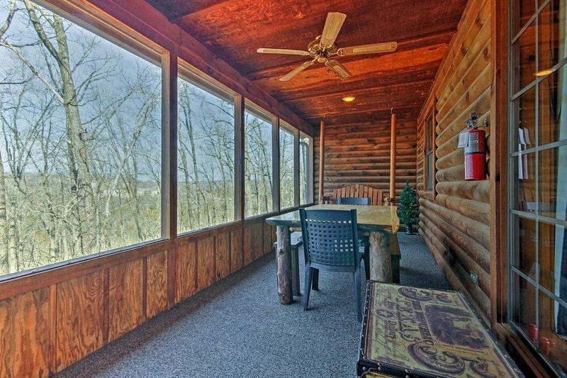 'Split Oak Cabin' offers marvelous views of the Ozarks!