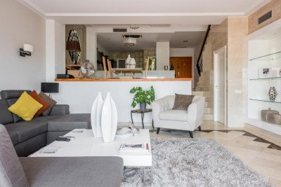 Luxurious open plan lounge area