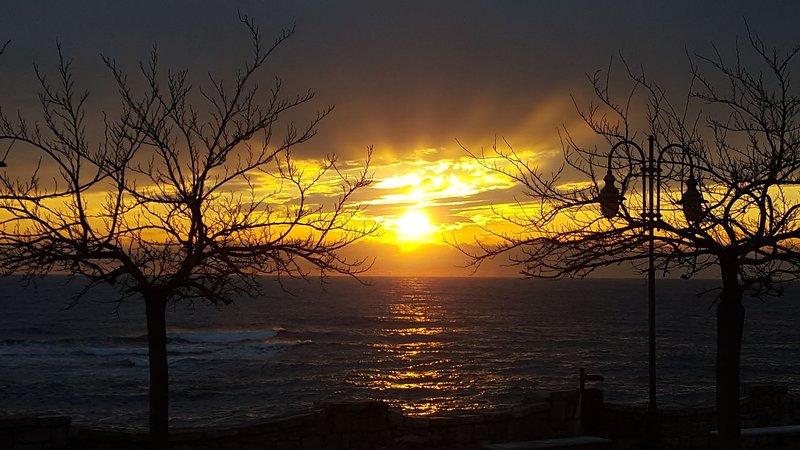 San Gregorio at sunset.