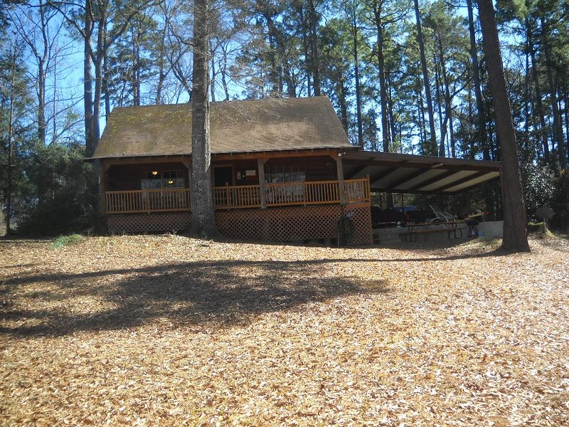 Dock Holiday - Waterfront Log Cabin, vacation rental in Hemphill