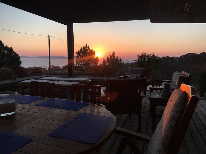 Puesta de sol desde terraza de salón
