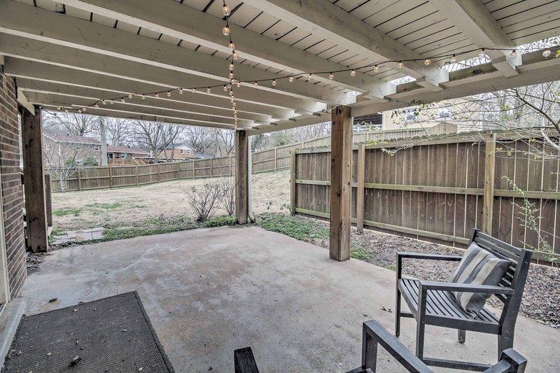 Prenez une bouffée d'air frais sur le patio privé!