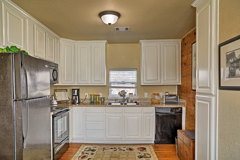 The fully equipped kitchen lets you remain frugal while on vacation!